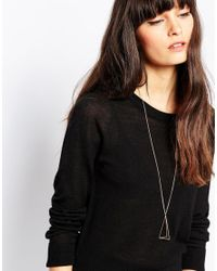 SELECTED | Metallic Tria Long Drop Necklace | Lyst