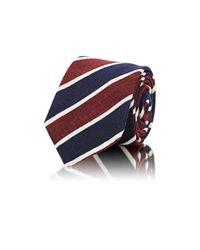 Barneys New York - Blue Men's Diagonal-striped Dupioni Necktie for Men - Lyst