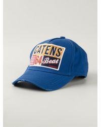 DSquared² - Blue Printed Baseball Cap for Men - Lyst