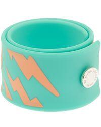 Marc By Marc Jacobs - Green Turquoise Lightning Slap Bracelet - Lyst