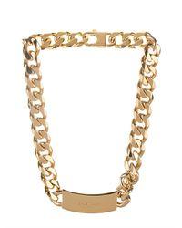 Balenciaga - Metallic Arena-Stud Chain Necklace - Lyst