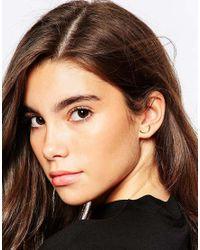 ASOS | Metallic Curved Bar Stud Earrings | Lyst