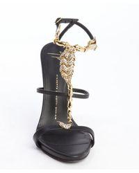 Giuseppe Zanotti - Black Leather Scorpion Coline Sandals - Lyst