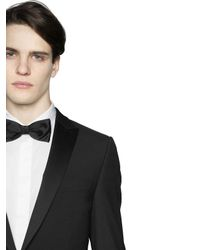Z Zegna Black Silk Satin Bow Tie for men