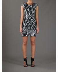 McQ Black Printed Stretch-Jersey Dress