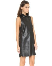 VEDA - Black Hall Leather Dress - Lyst