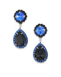 DANNIJO | Black Monaco Crystal Drop Earrings | Lyst