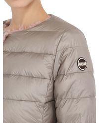 Colmar | Pink Reversible Nylon & Faux Fur Down Jacket | Lyst