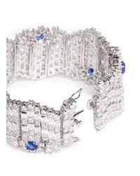 CZ by Kenneth Jay Lane | Metallic Crystal-embellished Bracelet | Lyst