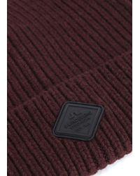 J.Lindeberg - Purple Jako Burgundy Wool Beanie for Men - Lyst