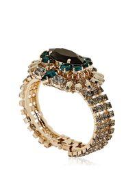 Anton Heunis Green Bollywood Princess Collection Bracelet