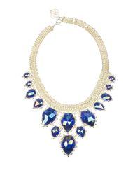 Kendra Scott - Blue Gretchen Cat's Eye Statement Necklace - Lyst