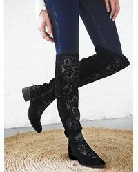 Free People | Black Womens High Noon Tall Boot | Lyst