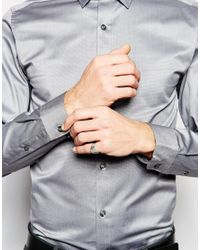 SELECTED - Gray Long Sleeve Smart Shirt In 100% Cotton In Regular Fit for Men - Lyst