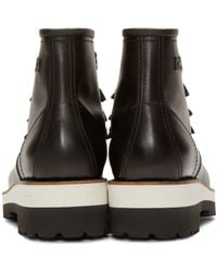DSquared² - Black Leather Lace-up Ankle Boots for Men - Lyst