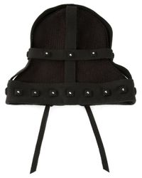 House of Malakai Black Silver Studded Beenie Hat