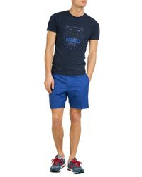 KENZO | Blue Printed Cotton T-Shirt for Men | Lyst