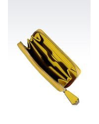 Emporio Armani - Yellow Wallet - Lyst