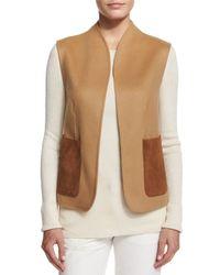 The Row - Natural Alex Wool-Pocket Vest - Lyst
