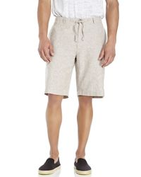 Perry Ellis | Brown Linen-Blend Drawstring Shorts for Men | Lyst