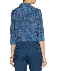 Marc Jacobs Blue Checked Silk Shirt