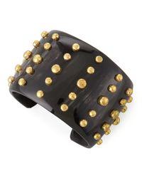 Ashley Pittman - Black Kiwiko Studded Cuff Bracelet - Lyst