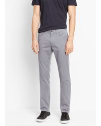 VINCE | Gray Essential 5-pocket Soho Trouser for Men | Lyst