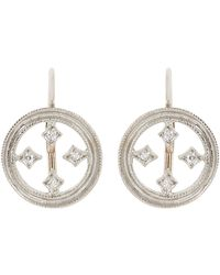 Cathy Waterman - White Drop Earrings - Lyst