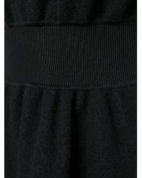 Emporio Armani - Black Flared Roll-Neck Dress - Lyst