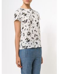 Proenza Schouler - White Floral Tee Shirt - Lyst
