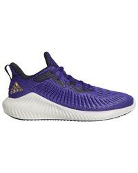 Adidas Purple Alphabounce + Run Running Shoes for men