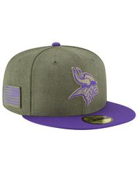 KTZ Green Nfl 59fifty Salute To Service Cap for men