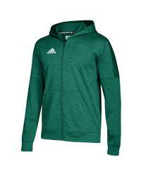 Adidas Green Team Issue Fleece Full Zip Hoodie for men