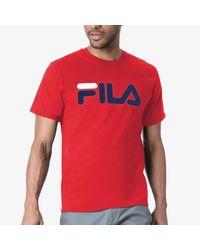 Fila Red Logo T-shirt for men