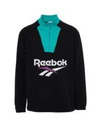 Reebok Black Vector 1/2 Zip for men