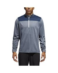 Adidas Blue Lightweight Upf 1/4 Zip Golf Pullover for men