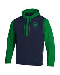 Under Armour Green College Crinkle Anorak Jacket for men