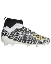 Adidas Black Adizero 8.0 3-stripe Life Molded Cleats Shoes for men