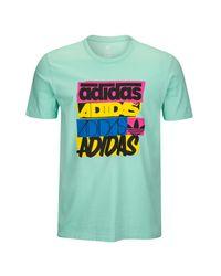 Adidas Originals Green Graphic T-shirt for men