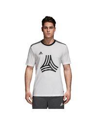 Adidas White Tango Logo Jersey T-shirt for men