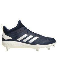 Adidas Blue Adizero Afterburner V Metal Cleats Shoes for men