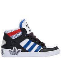 Adidas Originals Blue Hardcourt Hi Tennis Shoes for men