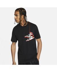 Nike Black Aj1 Shoe T-shirt for men
