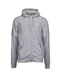 Adidas Gray Team Issue Full-zip Hoodie for men