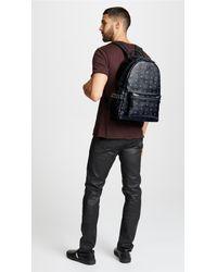 MCM - Black Stark Medium Side Stud Backpack for Men - Lyst