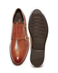 Cole Haan Brown Harrison Grand Double Monk Straps for men
