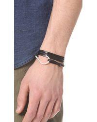 Miansai - Metallic Hooked Leather Wrap Bracelet for Men - Lyst
