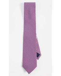 Ferragamo Purple Dolphin Print Classic Tie for men