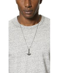 Miansai Metallic Anchor Necklace Noir for men