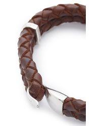 Miansai Brown Beacon Leather Bracelet for men